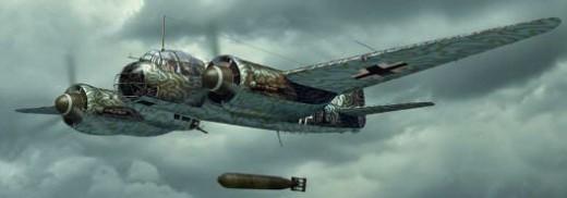 German JU88 torpedo bomber