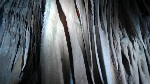 A photograph that I was permitted to take while I was in the caverns.