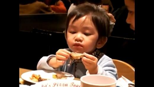 Kid Eating Chicken