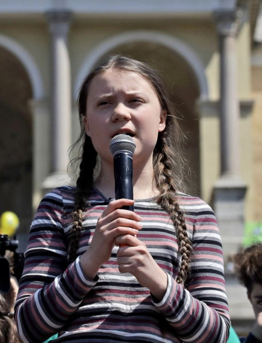 Greta Thunberg is a 16 year old climate activist from Sweden, who has been nominated for a Nobel Peace prize.