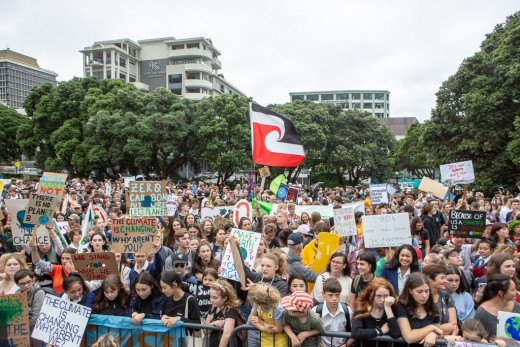Thousands of students protesting in New Zealand for action on climate change