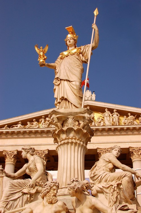 Athena at Austrian Parliament Building