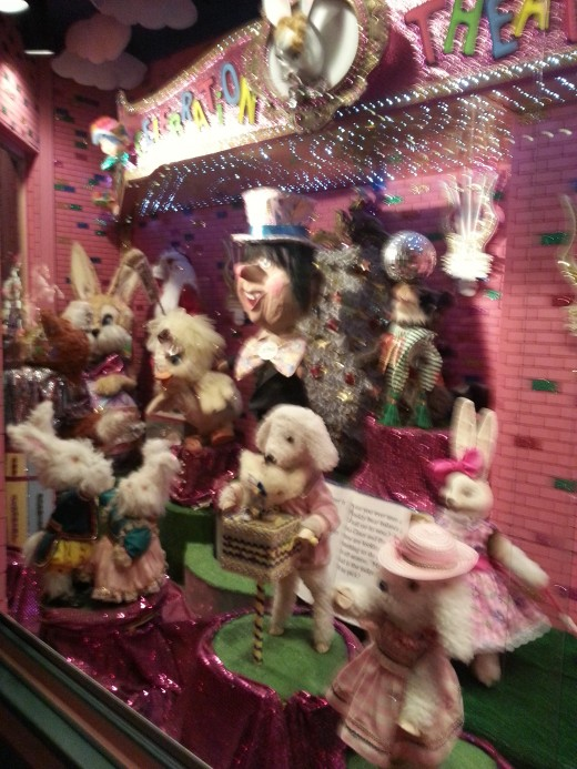 A department store window display, July 2013.