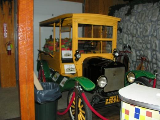 Vehicle inside the Yellow Barn, Jun 2017.