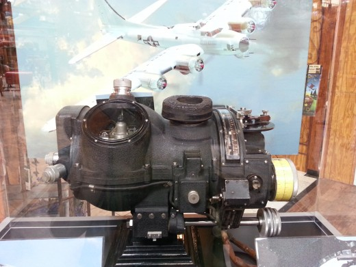 The Norden bombsight inside the Yellow Barn, July 2013.
