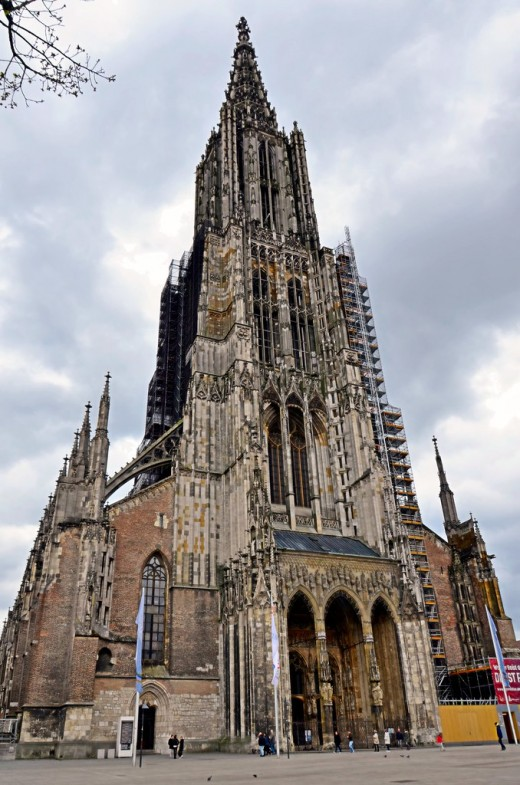 Ulm Minster, Germany, for many years the tallest cathedral and answering spiritual needs