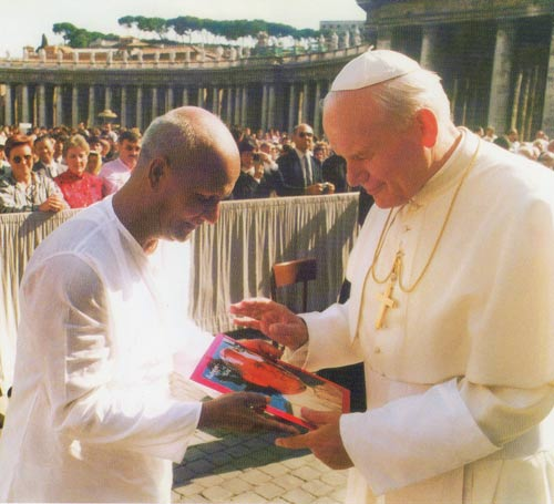 Meeting with Pope John Paul 11