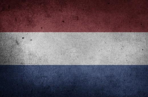 The Dutch flag.