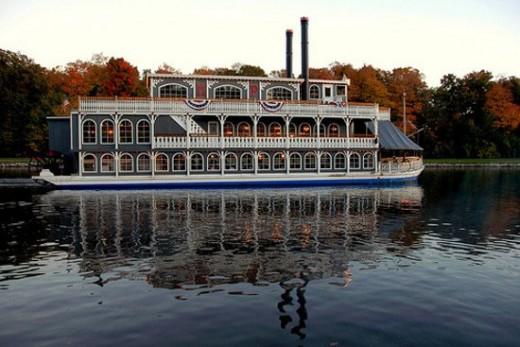 """Michigan Princess"" riverboat on the Grand River"
