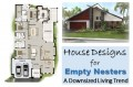 Small Home Plans and House Designs for Empty Nesters: Downsized Living