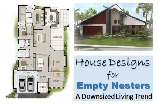 This small home design is a suitable size for empty nesters. The house plan has three bedrooms, open living spaces, a two-car garage, and all other facilities we may require as we age.