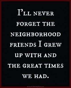 Neighborhood Kids and Growing Up: The Age of Innocence