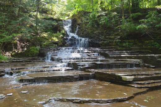 Buttermilk Falls is small but tranquil and easy to reach from downtown Ithaca.