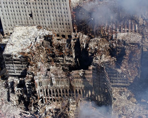 Twin Towers attacked on 9-1-1.