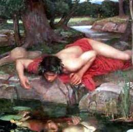 Narcissus admires Narcissus