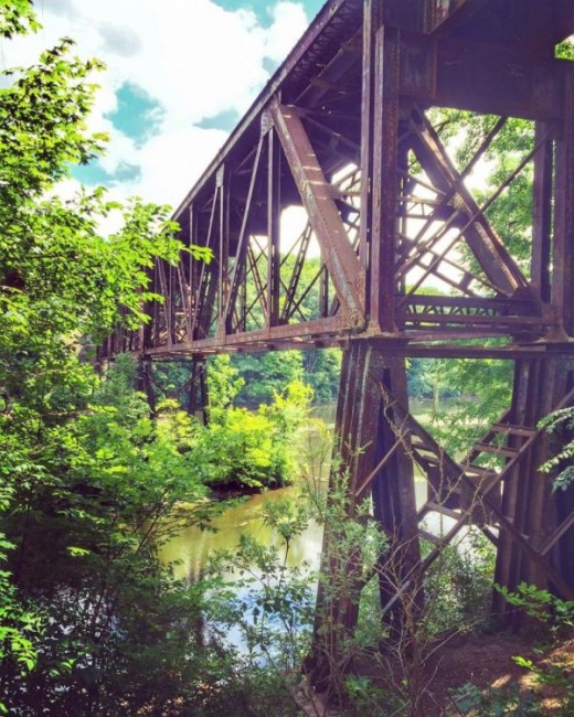 Another shot of historic railroad trestle