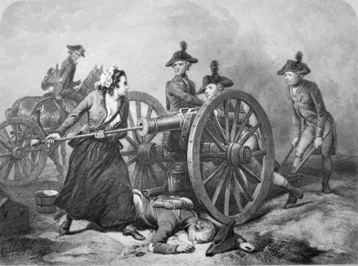 Molly Pitcher is the legend of the woman who replaced her husband in battle after he was wounded.