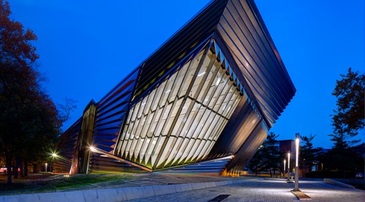 The Broad Art Museum at night