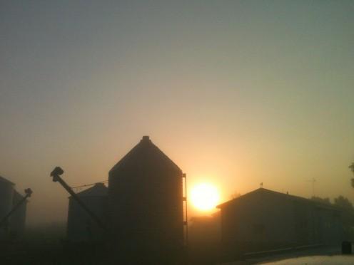 Plains culture and sunrise coincide.