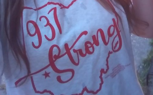 937 Strong t-shirt whose sales help tornado victims.