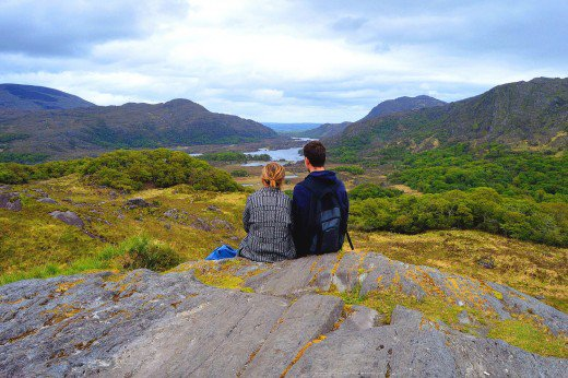 Ladies View offers a quiet, solitary view of Killarney National Park.