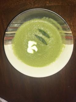 Basil/Cilantro Zucchini Soup