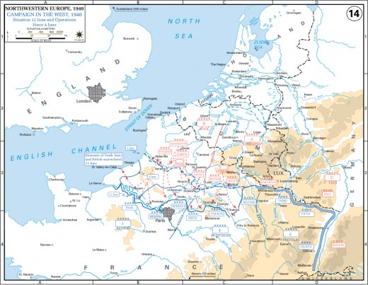 The German post-Dunkerque offensive.