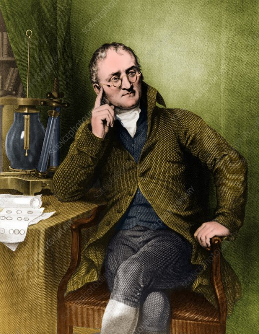 John Dalton, an important link between ancient theory and modern scientific methods