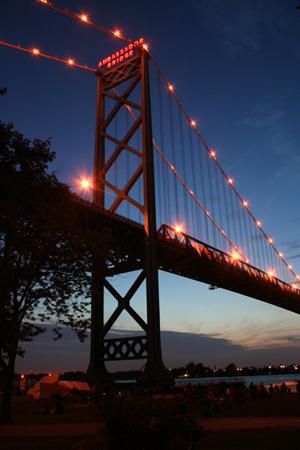 Ambassador Bridge--aging workhorse but still heavily trafficked