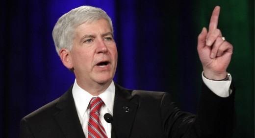 Ex-governor Rick Snyder--proponent of the Gordie Howe Bridge but now out of office