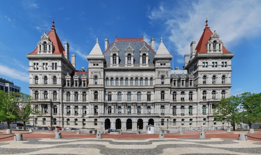 New York State Capitol, Albany--where Dewey governed the Empire State for twelve years but did not rise higher