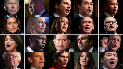 20 Democratic Presidential Candidates