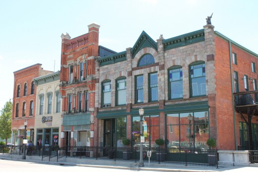 Part of Old Town commercial district, showing historic charm