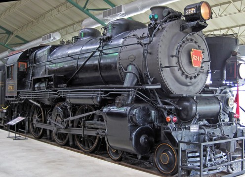Pennsylvania Railroad # 5741 coal-burning steam locomotive (G5s 4-6-0) 1