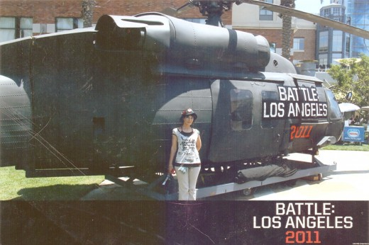 That's me with the Battle Los Angeles Helicopter