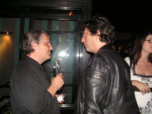 Neil Gaiman when i was attending a function when I was interviweing famous stars for Latino Review