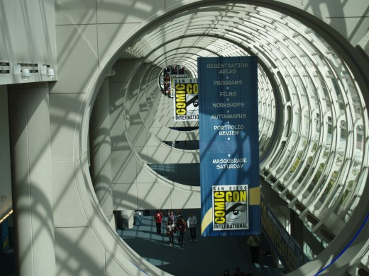 One of my favourite shots of San Diego Convention Centre when everything is up and we're waiting for the doors to open.