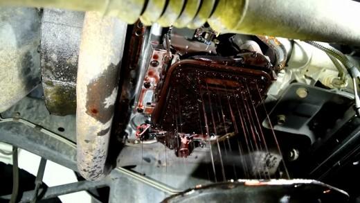Draining the transmission fluid