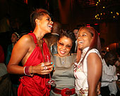 Kelis, Her Mom And Her Sister At Her Birthday Party