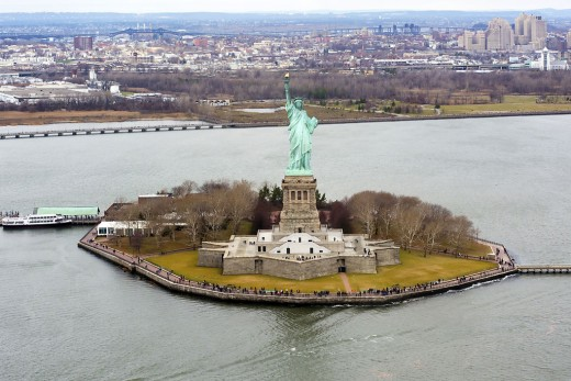 The Statue Of Liberty sits on Liberty Island!