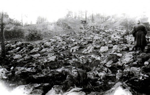 Mass graves of Polish officers found at Katyn
