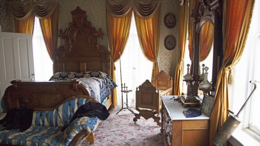 Master bedroom in the mansion