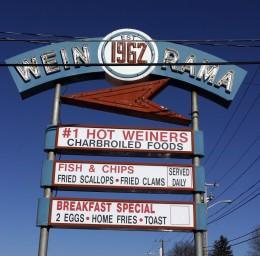 Wein-O-Rama New York System weiners in Cranston.