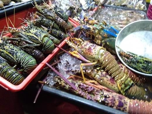 fresh bounty of the sea...