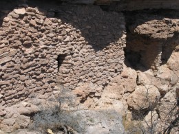 These cliff dwellings at Montezuma's Well are easy to see from the view area.