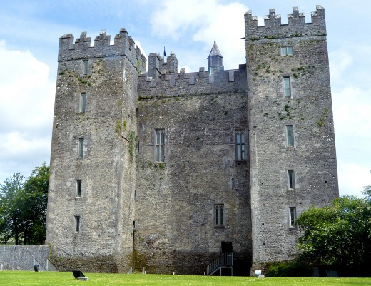 Bunratty Castle is plain on the outside, but filled with history on the inside.