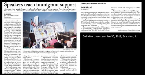 Daily Northwestern, 2018- Trump immigration laws attack immigrants