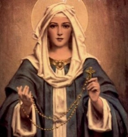 The Virgin Marry, is the most important person after God and Jesus Christ, so most people pray her for help.