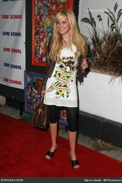 Ashley Tisdale wearing Ed Hardy