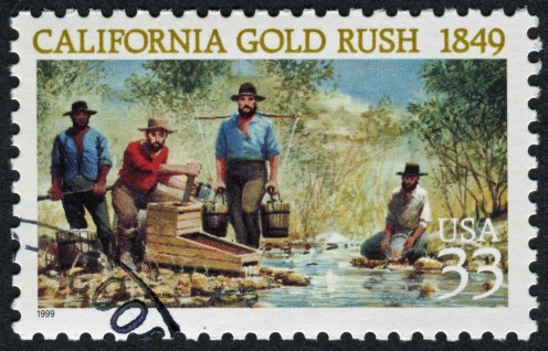 A Gold Rush Stamp